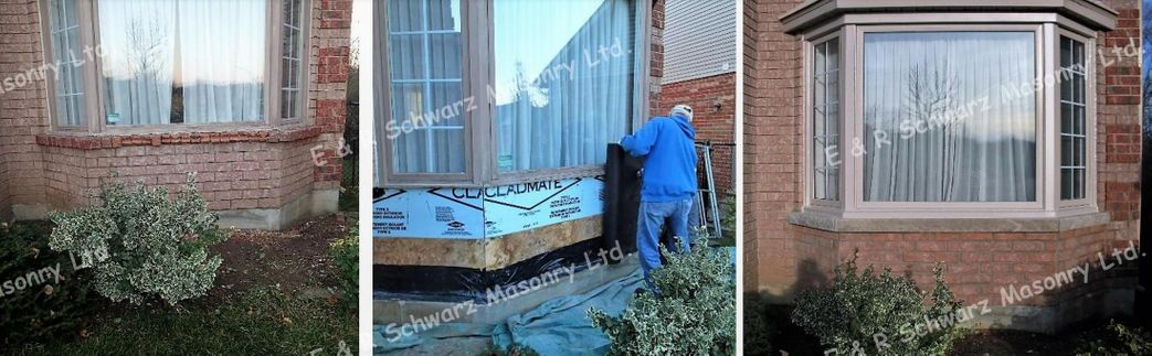 collage of window repair
