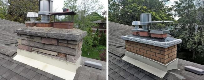 chimney restoration before and after