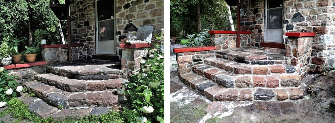 stone steps repair work