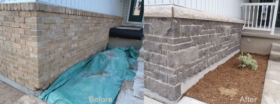 before and after wall repair